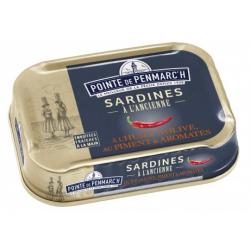 Conserves de Sardines à l'Huile d'Olive et au Piment